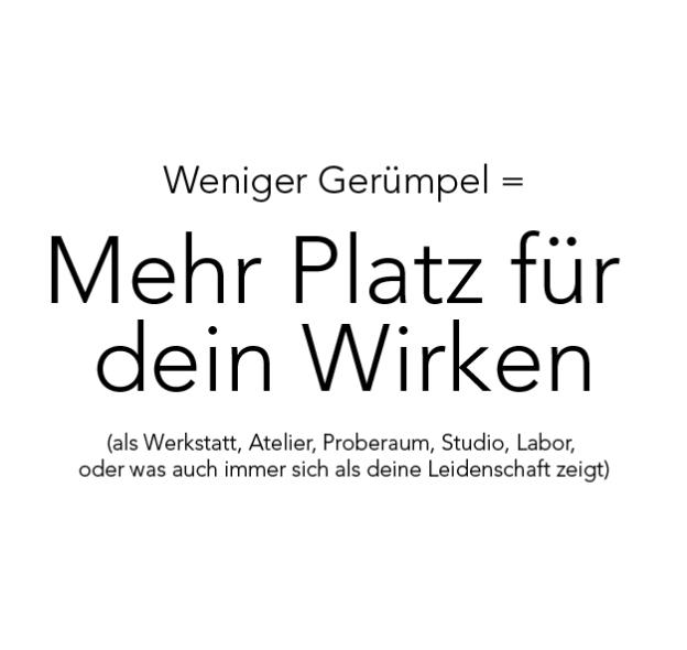 Weniger_Geruempgel_Mehr_Platz