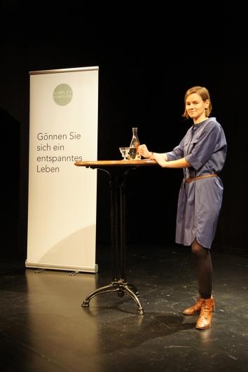 Marisa Gut als Gastgeberin. Sie erhielt viele schöne Rückmeldungen zu ihrem Event.
